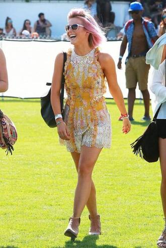 dress lace mini dress boho dress julianne hough coachella sunglasses