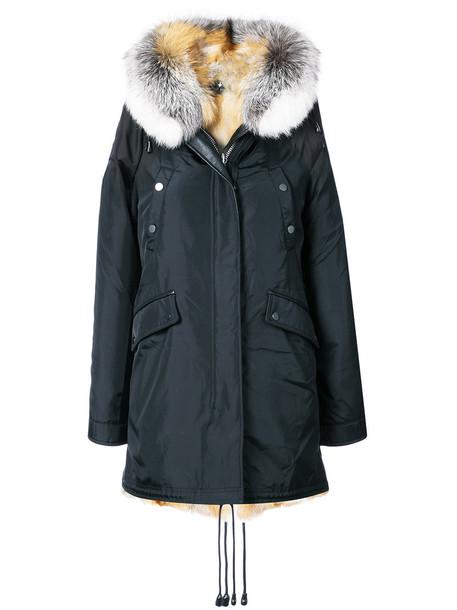 Nicole Benisti coat fur fox women black