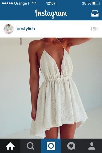 dress fashion lace dress white dress style indie boho hippie classy