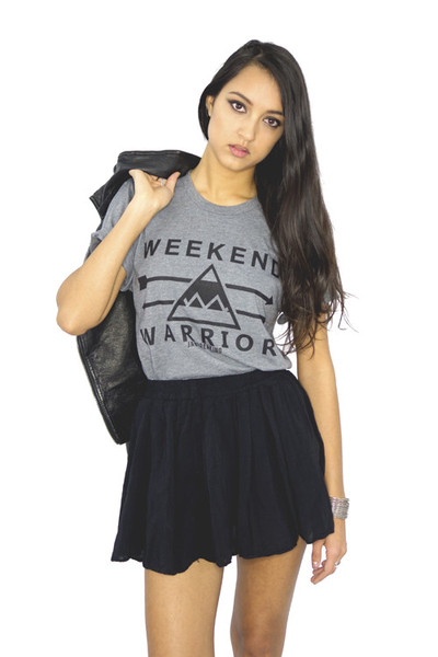 Weekend Warrior T-Shirt - Black/Gray                           | Jawbreaking