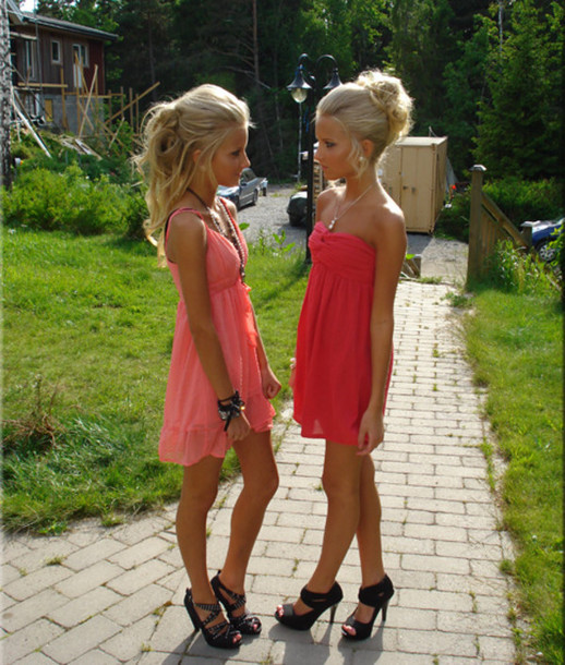 dress party pink dress girls pink