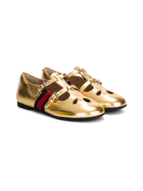Gucci Kids leather nude shoes
