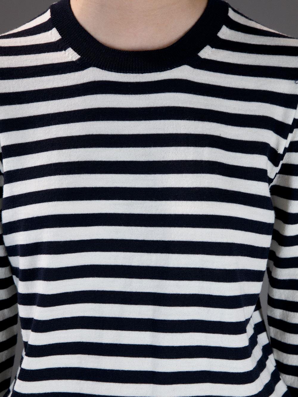 Comme des garçons shirt striped crew neck sweater