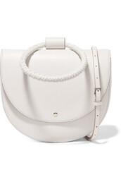 bag,shoulder bag,leather,white