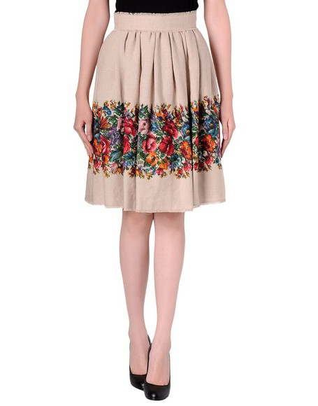 skirt floral skirt knee length skirt midi skirt dolce and gabbana