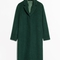& other stories | wool & mohair blend long coat | green