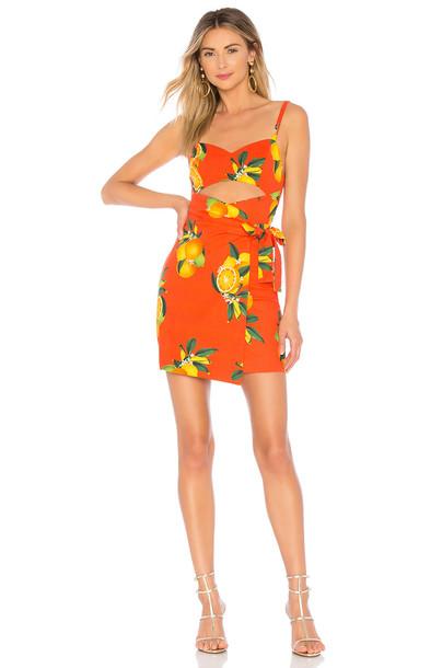Privacy Please Haven Mini Dress in orange