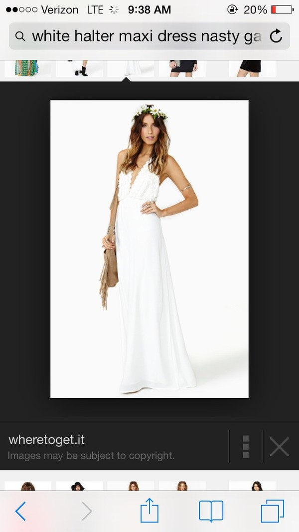 dress white halter maxi dress nasty gal