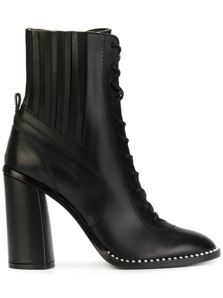 CASADEI rock high women ankle boots leather black shoes