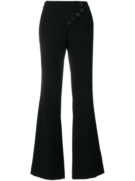 Chloe women black silk pants