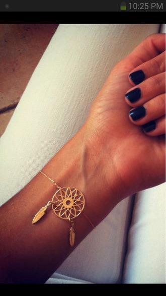jewels dreamcatcher bracelets gold