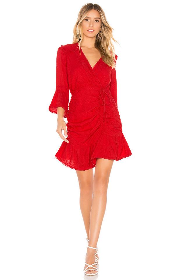 Tularosa Joannie Dress in red