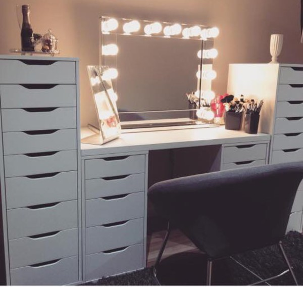 IKEA Alex High Drawer Unit with 9 Drawers White Home Office ...