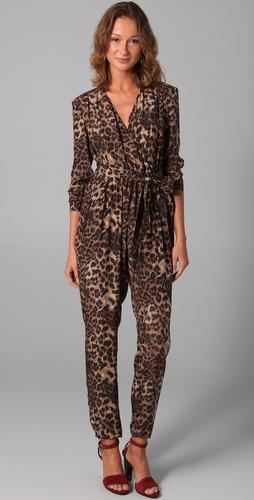 Rebecca minkoff siri leopard print jumpsuit