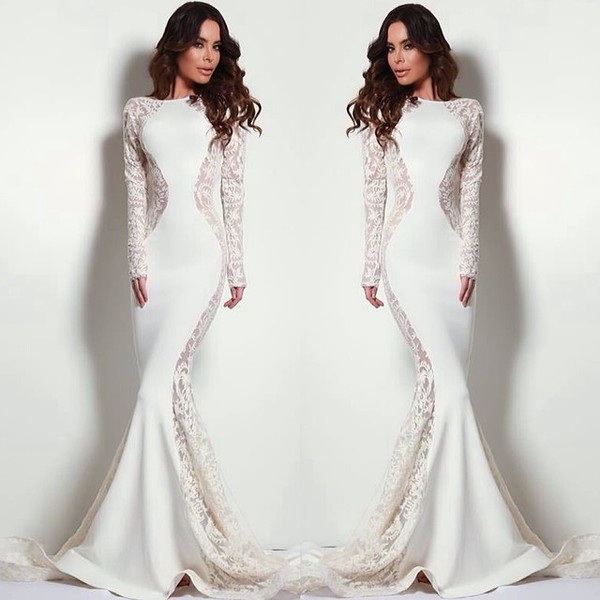 dress white dress white lace dress lace lace dress white long prom dress slit dress tight wedding prom mermaid long formal dress white prom dress fitted prom dress