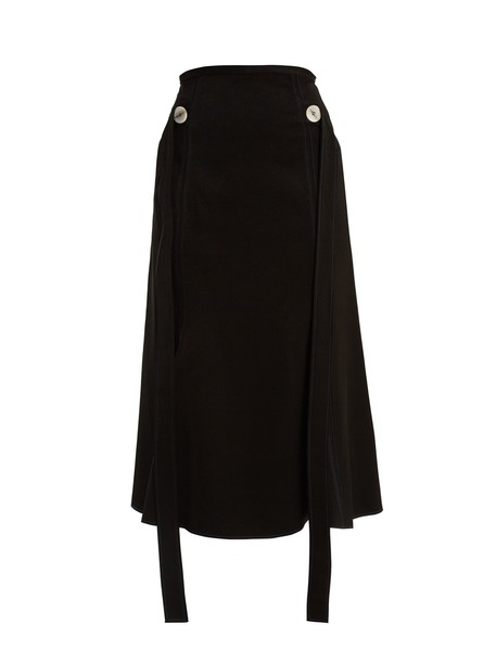 ellery skirt midi skirt back high midi satin black