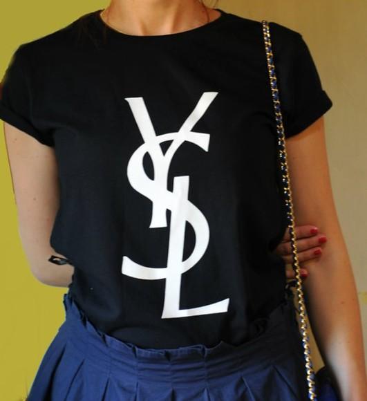 ysl ysl shirt ysl tshirt t-shirt shirt