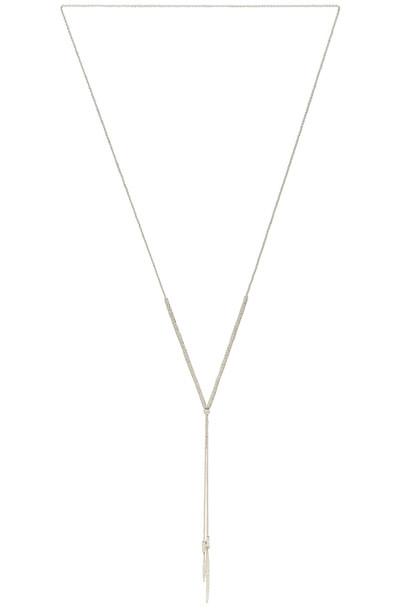 gorjana necklace metallic silver jewels