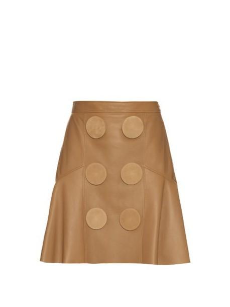skirt peplum skirt oversized leather beige