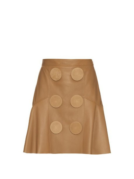 Givenchy skirt peplum skirt oversized leather beige