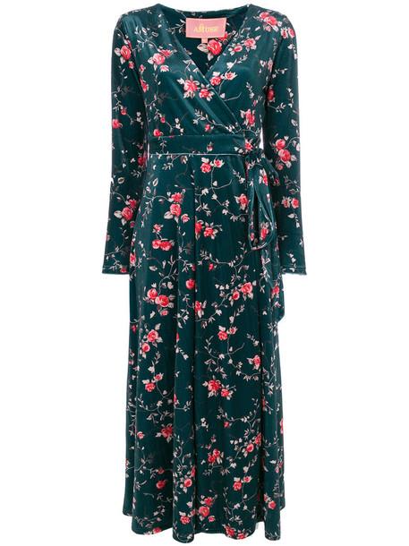 Amuse dress wrap dress women floral cotton print green