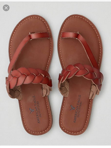 71b66c138ddd shoes american eagle outfitters brown flat sandals braided sandal cute  sandals