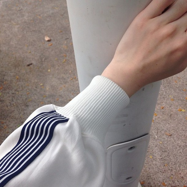 jacket white blue striped overwear sweater basic long sleeves
