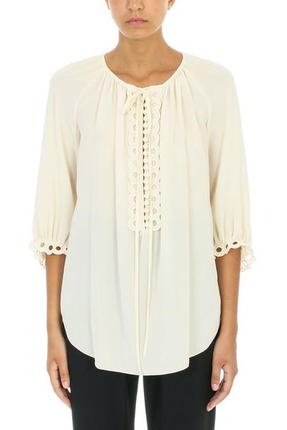 Chloe blouse beige top