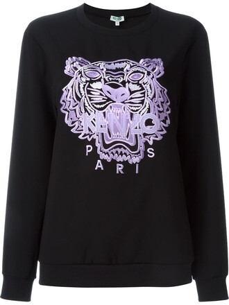 sweatshirt women tiger black sweater