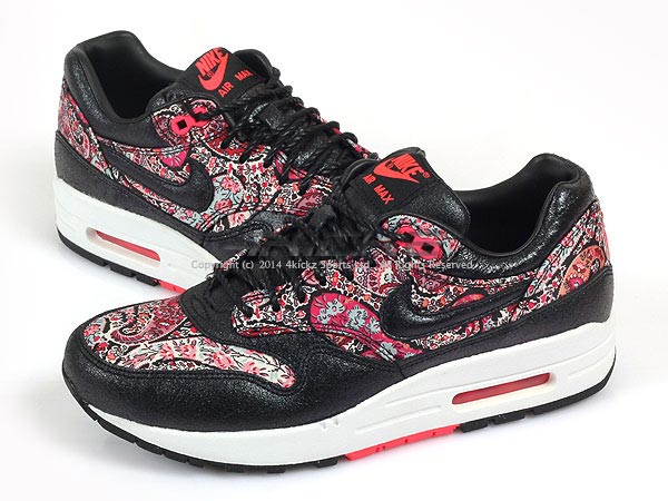 Nike Wmns Air Max 1 Lib Liberty London QS Black Solar Red