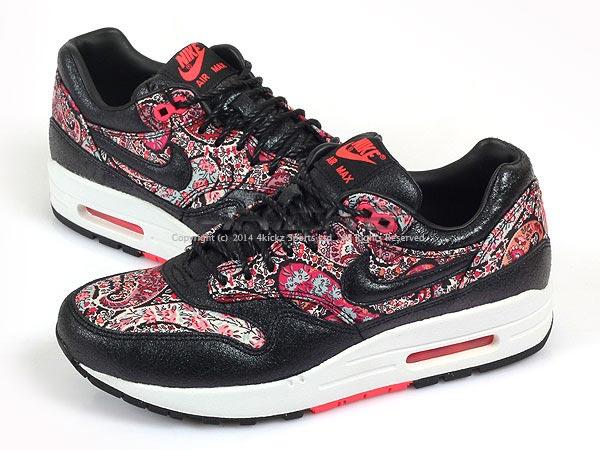 cheap for discount 37af5 006e9 Nike Wmns Air Max 1 Lib Liberty London QS Black Solar Red White ...