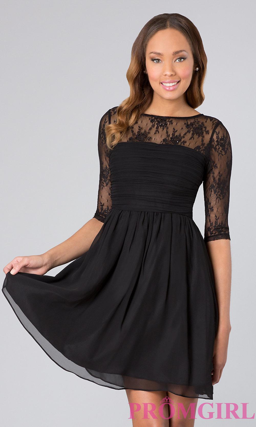 Long sleeve short prom dresses