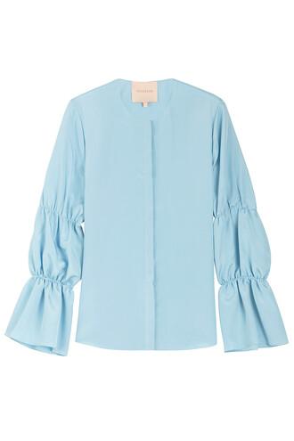 top silk blue