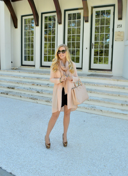 fash boulevard blogger jacket scarf bag classy