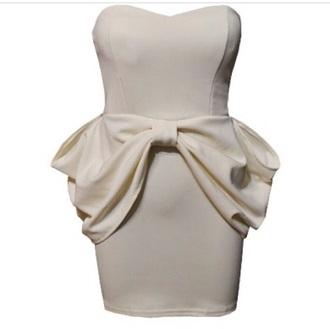 dress color bow dress white dress graduation dress helpmefindthis pretty