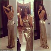 dress,sequins,gown,gold,sequin dress,prom dress,sexy dress,hot,gold sequins,gold dress,gold sequins dress,elegant dress,prom,prom gown,luxury,long prom dress,2016 prom dresses,gold sequin prom dress,sexy prom dress