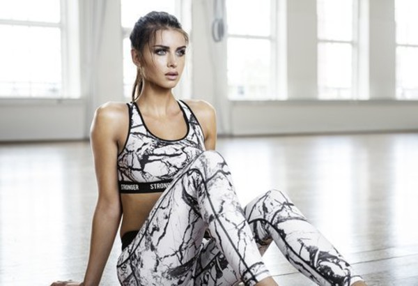 Top Runnning Outfit Black And White Leggings Sports