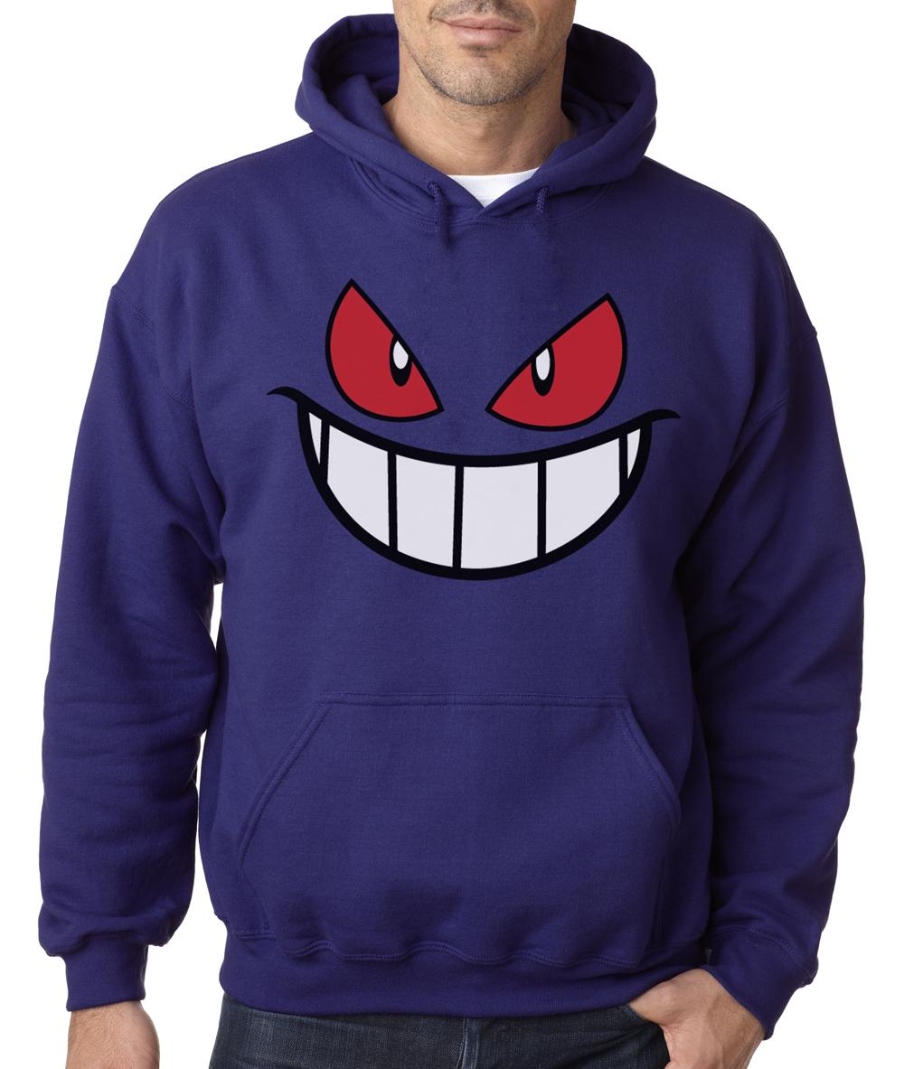 Gengar Hooded Sweater Pokemon Anime Black and White Pikachu Shirt Hoodie | eBay
