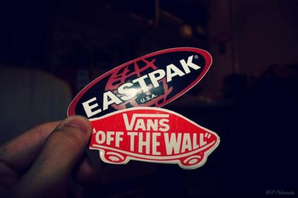 vans vans off the wall jewels stickers eastpak red clothes brands