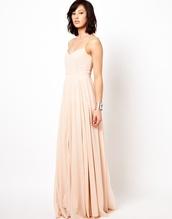 dress,maxi dress,chiffon,blush,spaghetti strap,long bridesmaid dress,jumpsuit,jumper,fashion,floral,fall outfits