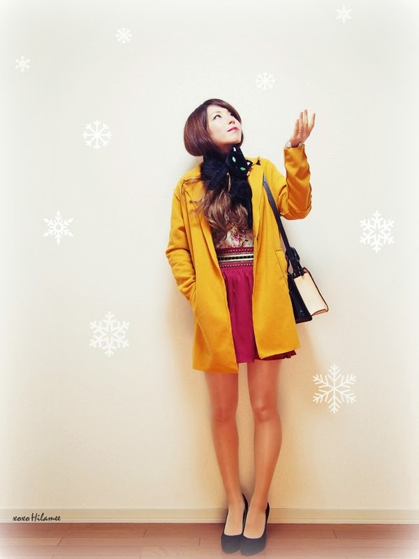 xoxo hilamee coat shirt skirt shoes bag
