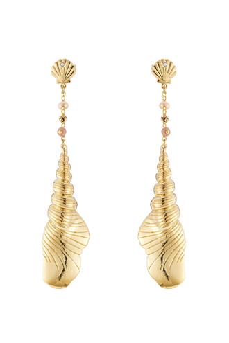 shell earrings gold jewels