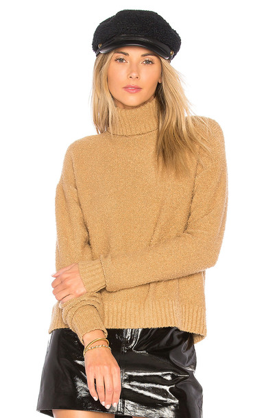House of Harlow 1960 pullover tan sweater