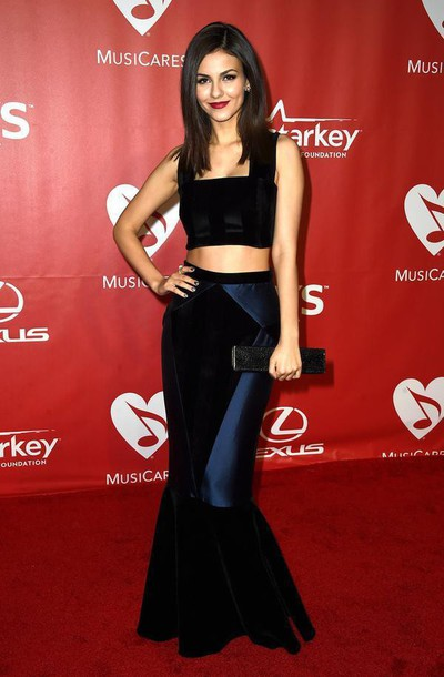 skirt gown victoria justice top crop tops navy