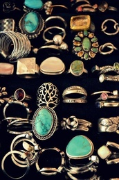 jewels,ring,grunge,turquise,jewelry,bronze,gems