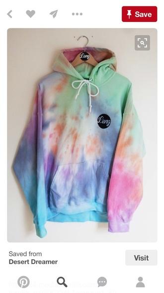 jacket sweatshirt cute rainbow tie dye
