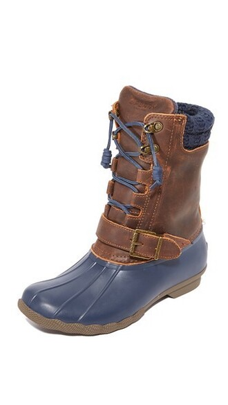 boots navy brown shoes