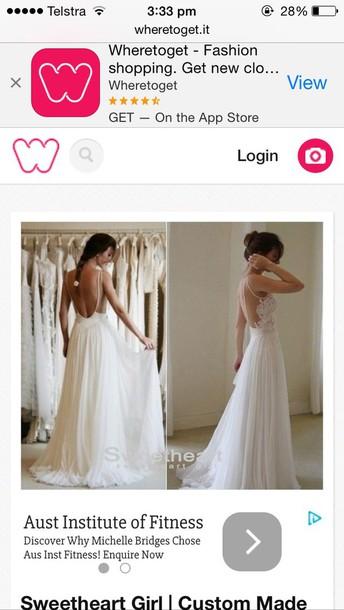 dress debtant dress white backless