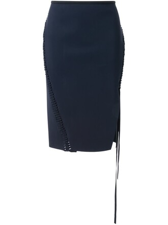 skirt split skirt braided black