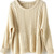 Apricot Batwing Long Sleeve Pullovers Sweater - Sheinside.com Mobile Site